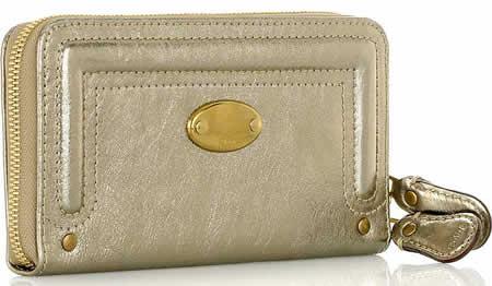 Chloe Bay Metallic Wallet