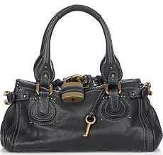 Chloe Paddington Black with Gold Hardware