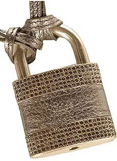 Chloe Crystal Padlock Keychain