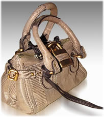 Chloe Paddington Bag in Lizard skin