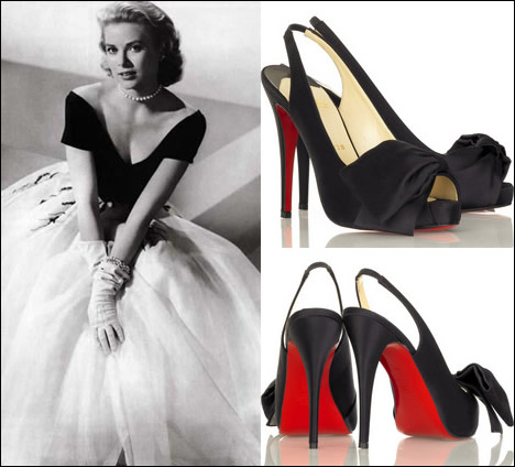 Christian Louboutin Very Noeud Slingbacks