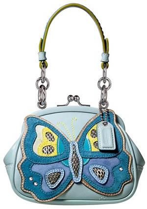 Coach Butterfly Motif Frame Bag
