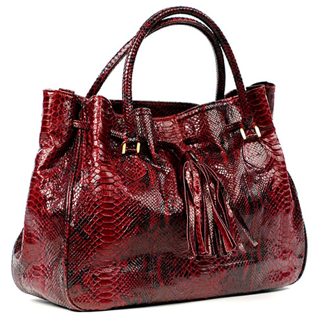 D Angel Tia Tote cranberry