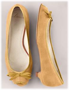 Delman Suede Ballerina Slippers