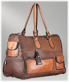 D&G Dolce & Gabbana Multi Tonal Leather Weekend Bag