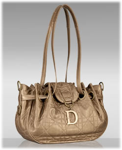 Dior Metallic Cannage Shoulder Bag