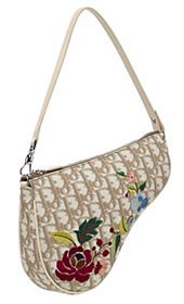 Dior Flowers Saddle Pouch