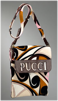 Emilio Pucci Niger Corduroy Small Messenger