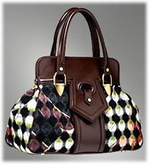 Emilio Pucci Tweed Turtle Print Tote Bag