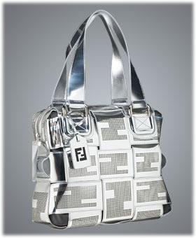 Fendi Crossword Grande Mirrored Bag