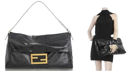 Fendi Patent Shoulder Bag