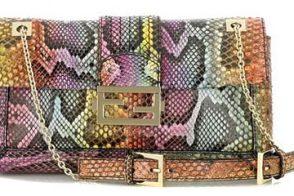 Fendi Python Baguette Bag