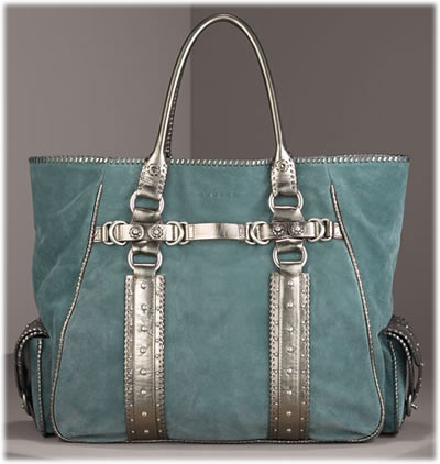 Ghurka Large Suede Leather Tote