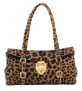 Prada Giraffe-Print Push-Lock Bag