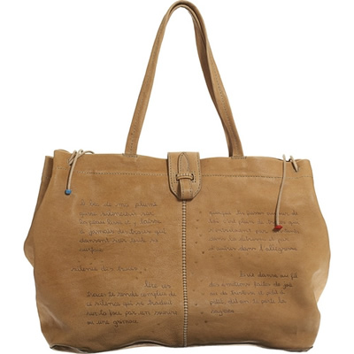 Henry Cuir Insaisissable Poem Tote