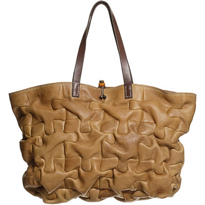 henry cuir puzzle tote