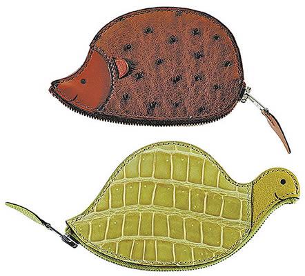 Hermes Ostrich Hedgehog and Crocodile Tortoise Coinbags