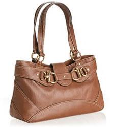 Hype Nutmeg Glazed Pebble Leather Shoulder Bag