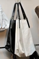 Jane August Kings Road, Black and White Shiny Leather ($770)