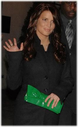 Jessica Simpson Christian Louboutin Satin Evening Bag