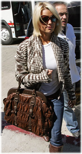 Jessica Simpson Prada Napa Gauffre Frame Bag