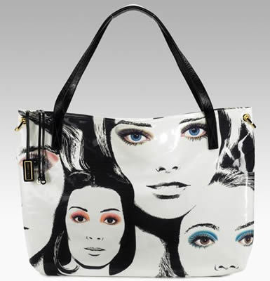 jimmy choo face canvas bag