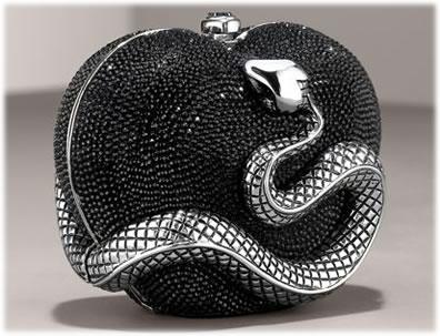 Judith Leiber Heart Snake Miniaudiere