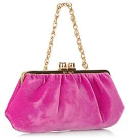 Kate Spade Olivia Velvet and Gold Evening Bag