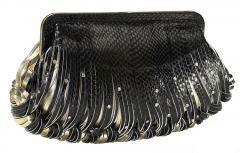 katherine kwei donna clutch black
