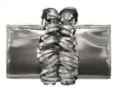 katherine kwei isabelle evening bag silver