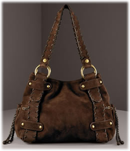 Kooba Sienna Suede Shoulder Bag