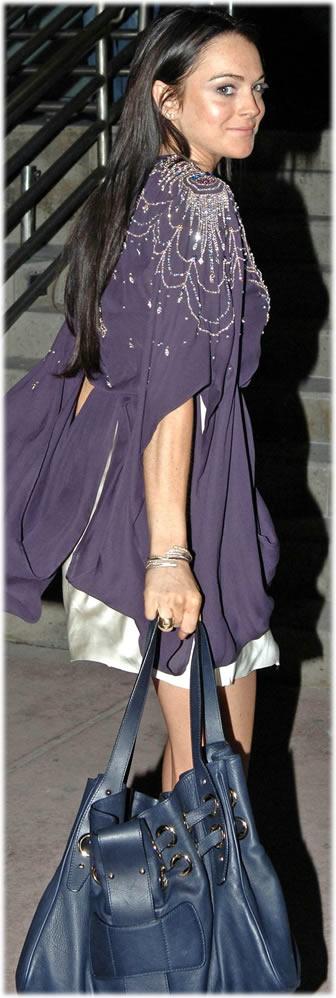 Lindsay Lohan Jimmy Choo Tote