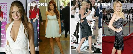 Lindsay Lohan Before After
