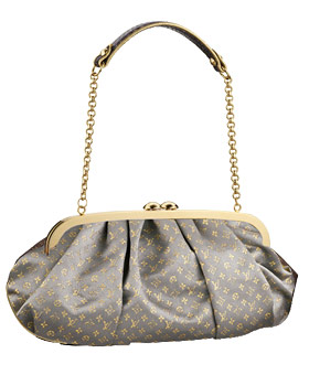 Louis Vuitton Monogram Satin Aumoniere