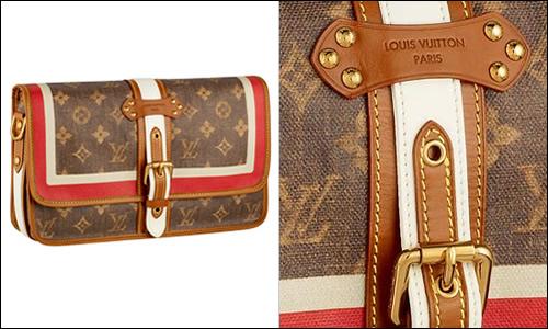 Louis Vuitton Monogram Tisse Rayure Clutch