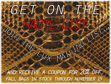 lux couture mailing list
