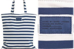 Marc by Marc Jacobs Striped Jersey Shopper