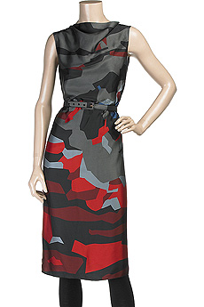 Marc Jacobs Abstract Floral Print Dress