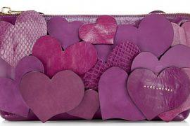 Marc Jacobs Big Heart Zip Clutch