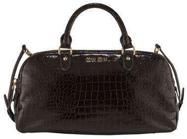 miu miu  croc satchel