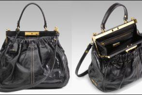 Geri Halliwell Style: Miu Miu Nappa Frame Tote