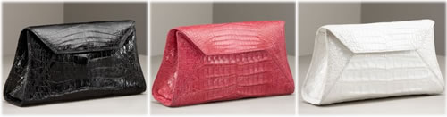 Nancy Gonzalez Flap Croc Clutch