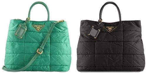 prada designer wallets - Prada Quilted Nylon Satchel - PurseBlog