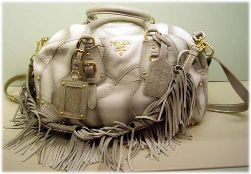 purse prices - prada fringed bag