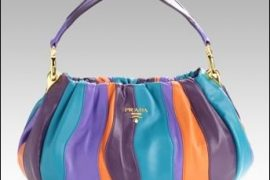 Prada Stripes Multicolor Small Hobo