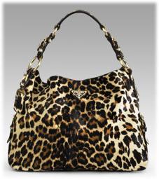 Prada Cheetah Print Hobo