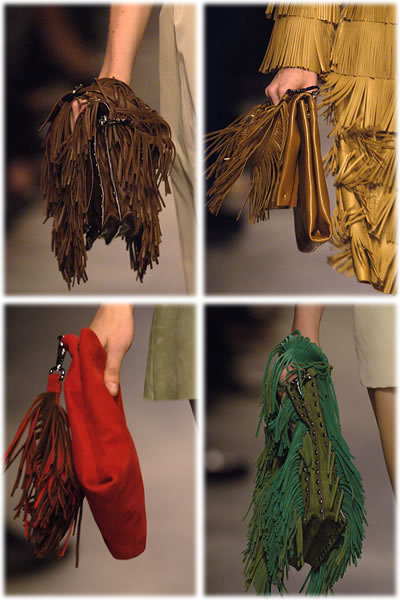 Prada Fringed Handbags