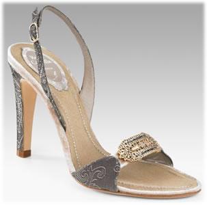 Rene Caovilla Jeweled Lace Sandals