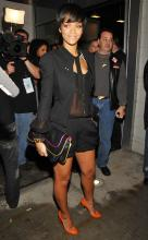 Rihanna with Kooba Bennie Clutch