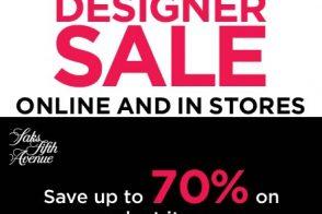 Saks Designer Sale!